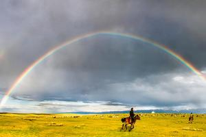 Rainbow & Rider by Feng Wei Photography