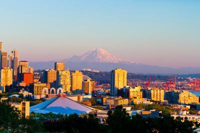 Seattle City Skyline at Sunset by Feng Wei Photography