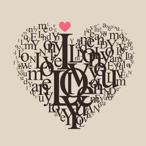 Heart Shape From Letters - Typographic Composition by feoris