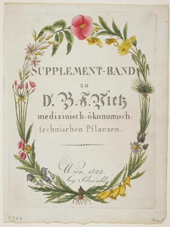 Frontispiece and Title Page to Supplement-Band Zu Dr. B. F. Vietz Medizinisch-Okonomisch-Technische