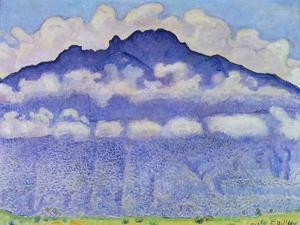 Andey Mountain, Vue from Bonneville, 1909 by Ferdinand Hodler