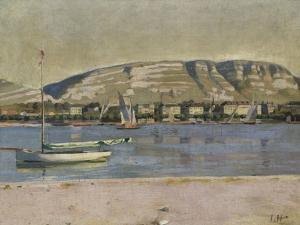 Geneva Harbour and the Saleve, 1878 by Ferdinand Hodler