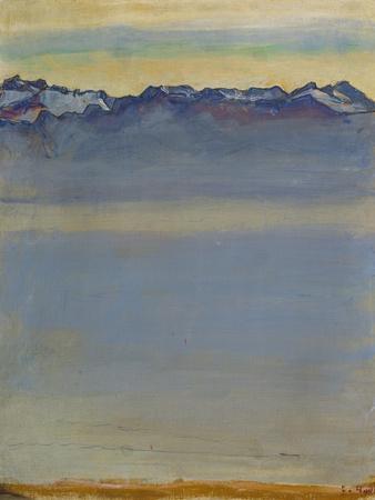 Lake Geneva with Savoyer Alps, 1907