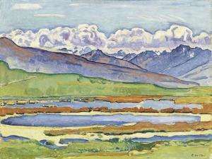 Landscape at Montana by Ferdinand Hodler