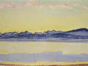 Mont Blanc with Red Clouds, 1918 by Ferdinand Hodler