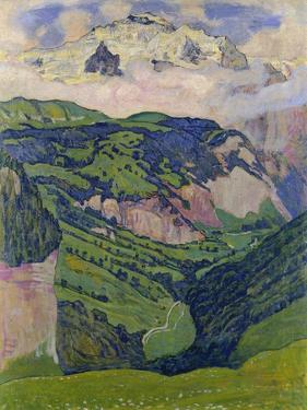 The Jungfrau, View from the Isenfluh, 1902 by Ferdinand Hodler