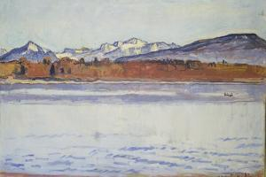 The Mont Blanc Snow-Covered, 1918 by Ferdinand Hodler