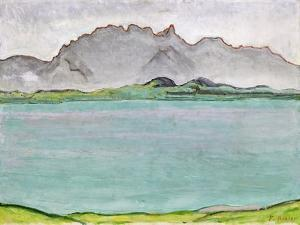 The Stockhorn Mountains and Lake Thun, 1911 by Ferdinand Hodler