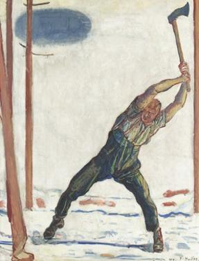 The Woodcutter by Ferdinand Hodler