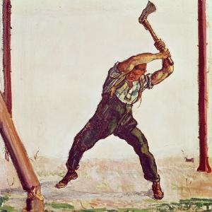 The Woodman, 1910 by Ferdinand Hodler