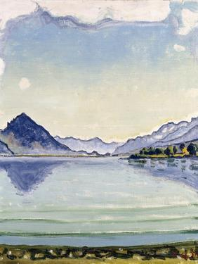 Thunersee at Leissingen, 1909 by Ferdinand Hodler