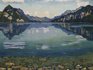 Thunersee with Reflection, 1904 by Ferdinand Hodler