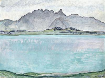 Thunersee with the Stockhorn Mountains, 1910