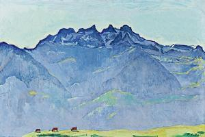 View of the Dents-Du-Midi from Champéry by Ferdinand Hodler