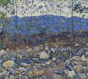 Wooded Landscape with Brook Near Leissigen, 1904 by Ferdinand Hodler
