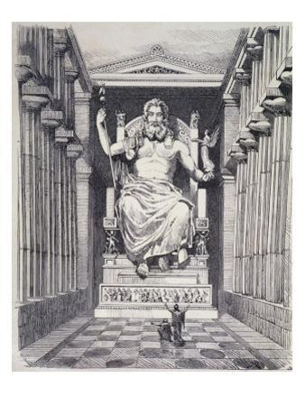 Statue of Olympian Zeus by Pheidias by Ferdinand Knab