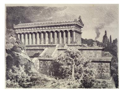Temple of Diana at Ephesus from a Series of the 'seven Wonders of the Ancient World', 1886 by Ferdinand Knab