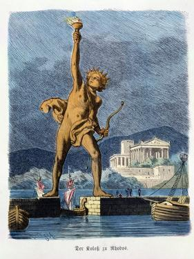"""The Colossus of Rhodes, from a Series of the """"Seven Wonders of the Ancient World"""" by Ferdinand Knab"""