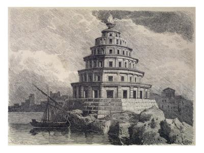 The Great Lighthouse of Alexandria, from a Series of the 'seven Wonders of the World', 1886 by Ferdinand Knab