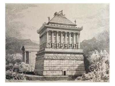 The Mausoleum of Halicarnassus, from a Series of the 'seven Wonders of the Ancient World'. 1886 by Ferdinand Knab