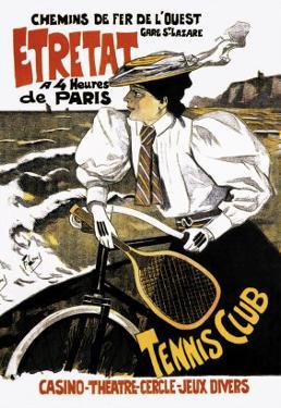 Etretat Tennis Club by Ferdinand Lunel