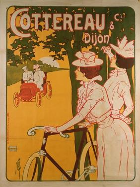 Poster Advertising Cottereau and Dijon Bicycles by Ferdinand Misti-mifliez