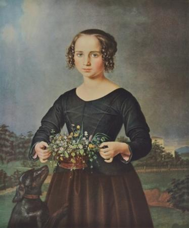 Girl with Floral Basket