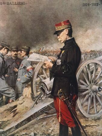 French General Joseph-Simon Gallieni, 1916