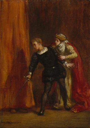 Hamlet and His Mother, 1849 by Ferdinand Victor Eugene Delacroix