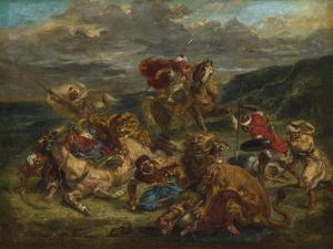 Lion Hunt, 1860-61 by Ferdinand Victor Eugene Delacroix