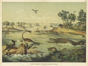 Animals and Plants of the Jurassic Era in Europe by Ferdinand Von Hochstetter