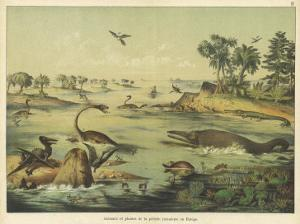 Animals and Plants of the Jurassic Era in Europe by Ferdinand Von Hochstetter