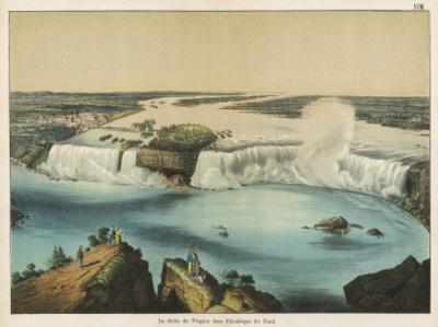 The Niagara Falls Between Canada and the United States, The American Fall