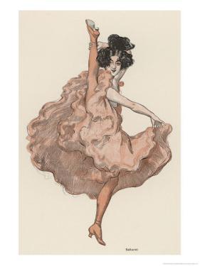 A High Kicking Dancer by Ferdinand Von Reznicek