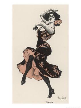 Solo Dancer Performs the Tarantella by Ferdinand Von Reznicek