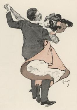 Two Dancers at the Munchen Carnival Abandon Themselves Uninhibitedly to the Delight of the Waltz by Ferdinand Von Reznicek