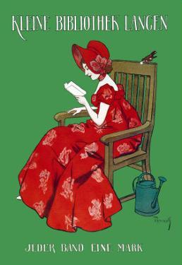 Woman in Red Reading by Ferdinand Von Reznicek