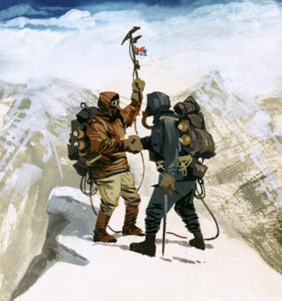 Hillary and Tensing Reach the Summit of Mount Everest