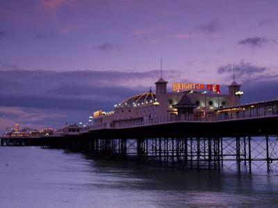 Brighton Pier Offers Entertainment for Visitors, England by Fergus Kennedy