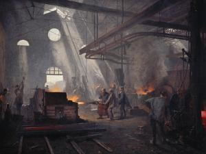 An Iron Foundry by Fernand Cormon