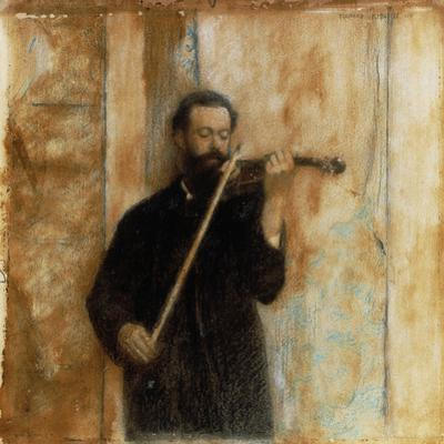 A Portrait of Achille Lerminiaux Playing the Violin, 1885
