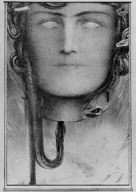 Fernand Khnopff (The blood of the Medusa) Art Poster Print