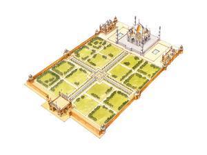 Taj Mahal, Adra, India, Tomb and Gardens by Fernando Aznar Cenamor