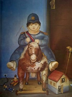 Child on Horse by Fernando Botero
