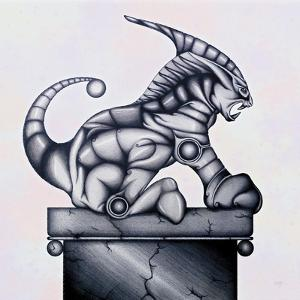 Lion Gargoyle XVI by Fernando Palma
