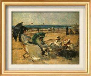 Groupe Sur La Plage by Fernard Maillaud