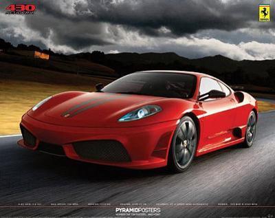 Ferrari - 430 Scuderia, Art Poster Print