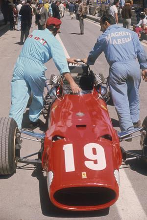 Ferrari of Chris Amon at the Spanish Grand Prix, Jarama, Madrid, 1968