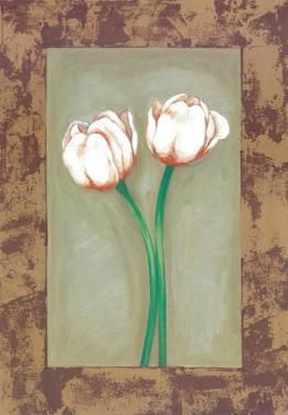 Flowers In Brown Frame I by Ferrer
