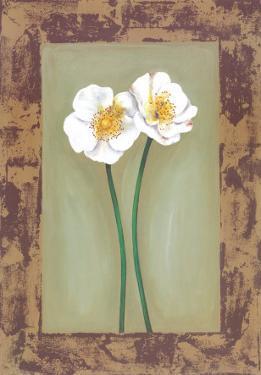 Flowers In Brown Frame II by Ferrer